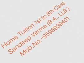 home tuition,/Sandeep verma(BA, LLB)