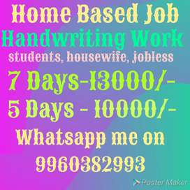 Earn weekly, handwriting work