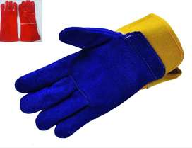 Gym Long welding Labour leather working gloves tig mig fir  fishing gl