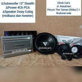 • Paket Subwoofer Stealth, Power Pca, Spiker Cubig
