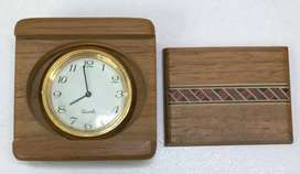 Collector's item - Rosewood Pocket Clock.