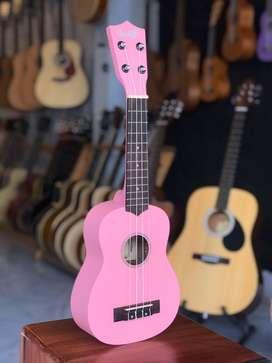 Ukulele Cowboy Pink Original Free tas