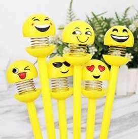 Smiley Spring Pen set of 5