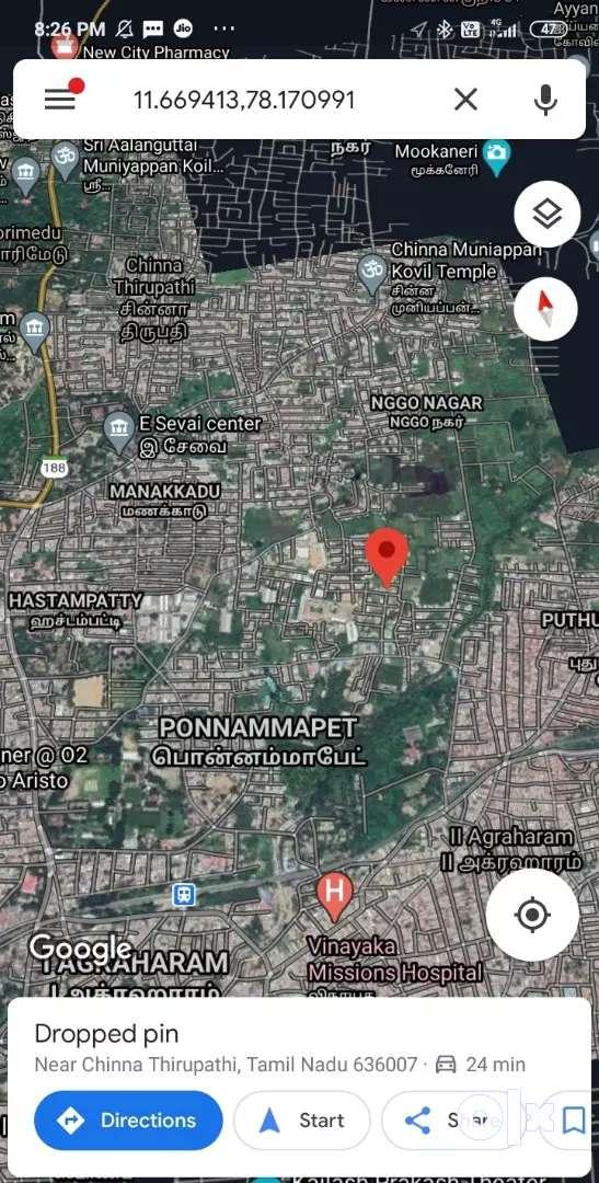 சேலம் ஜெயராம் காலேஜ் அருகில் மனை விற்பனை