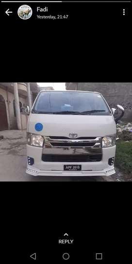 HIACE AVAILABLE FOR RENT