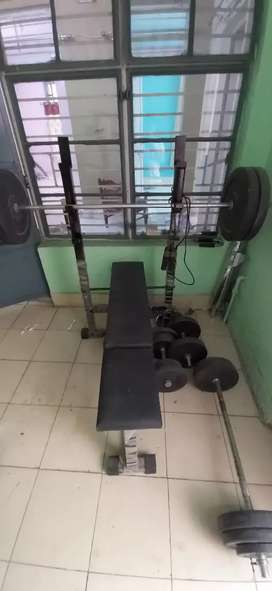 Weight with bench included