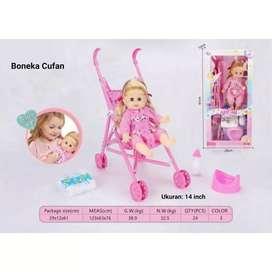 Mainan boneka baby stroller