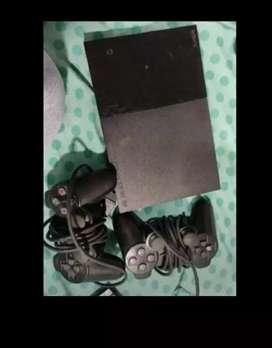 PS2 with 6 orginal games cd