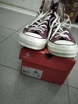 sepatu original converse 70's dark burgundy