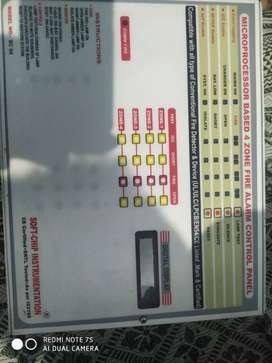 Microprocessor based 4 zone fire alarm control panel