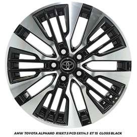Jual Velg CRV Rush Terios Juke Alphard Rep. R18x7.5 5x114.3 ET 15