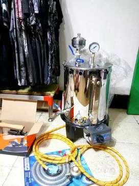 Setrika Uap Boiler Gas Surabaya Sidoarjo Bisa dipasangkan