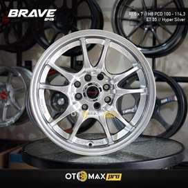 Velg Mobil Brave (849) Ring 15 Hyper Silver