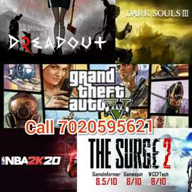 Pc games at 100rs each all new games available