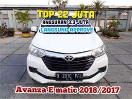 Toyota Avanza E Matic 2018/2017, TDP 22 jt angs.3,3 jt mbl sprti baru