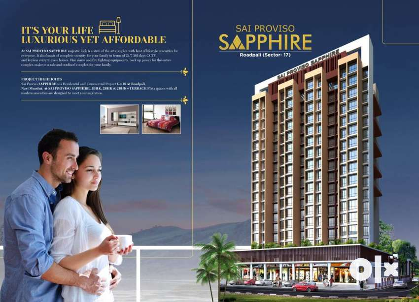 Spacious 2 BHK Flats for Sale-Sai Proviso Sapphire | Roadpali, Mumbai 0