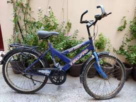 Amber dark blue bicycle
