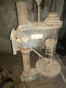 Standing drill machine stand.