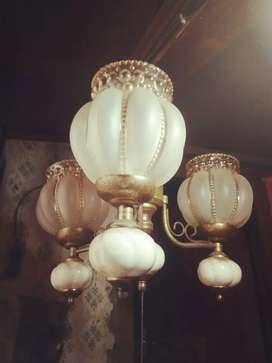 Lampu Gantung Jadoel 3 Lampu, kondisi mulus barang koleksi