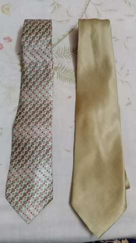 Branded Vogue Golden and Genstar dotted 2 ties
