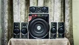 f&d f6000 Black-and-gray 5.1 Channel Speaker monster base ...