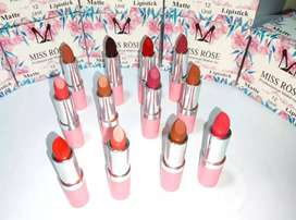 Miss Rose Branded Lipstick Best Longlastic 12 Pcs Multicolors