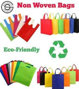 Non woven bags printed and simple