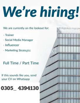 Online working part time full time job available