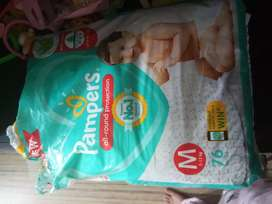Pampers Dipers per piece 8.5 rupee approximately 50 pieces