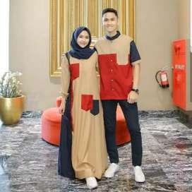 Baju gamis pasangan berbagai model
