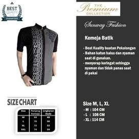 AM0107 Harga Promo COD Baju Kemeja Batik cowok Pria Kualitas terjamin