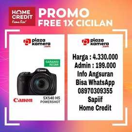 Canon PowerShot SX540 HS Promo Free 1x Cicilan