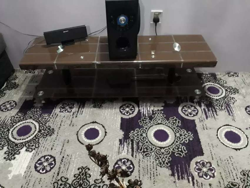 Malaysian glass Table for lcd and led tv use also home theater 0