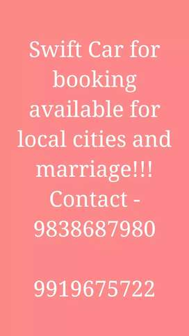 Car for Booking in local cities and for marriage
