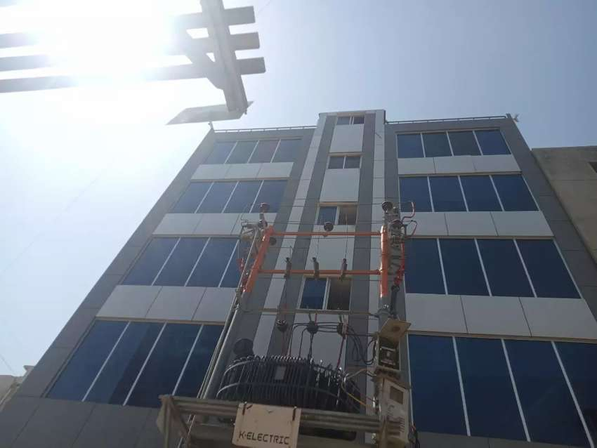 DEFENCE PHASE 2 E X T D H A OFFICE FOR RENT BRAND NEW WITH LIFT FRONT 0