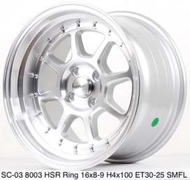 new stok SC-03 8003 HSR R16X8/9 H4x100 ET30/25