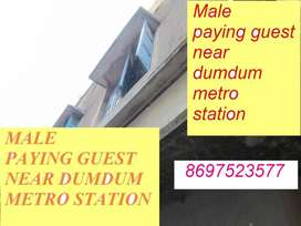 Male paying guest near dumdum metro station
