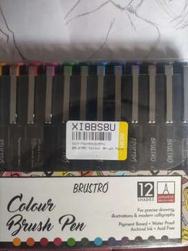 BRANS NEW Brustro colour brush pen 12shades (water proof)