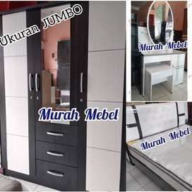 MURAH MEBEL •  Kamar Set Lemari Jumbo SpringBed 2Lapis No.1 Meja Rias