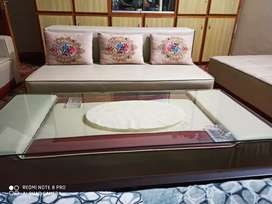 10 seater sofa with tables