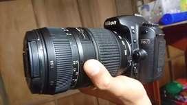 Nikon D80 lensa Tele Tamron 70 300