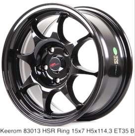 cicilan murah velg KEEROM 83013 HSR R15X7 H5X114,3 ET35 BLACK