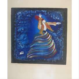 Acrylic painting depicting sufism