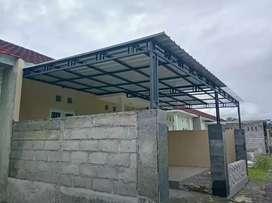 Pembuatan dan pemasangan kanopi/carfort teras rumah