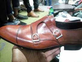 All leather shoes Formal double buckle mong men also available order