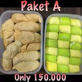 Pancake durian dan durian kupas promo