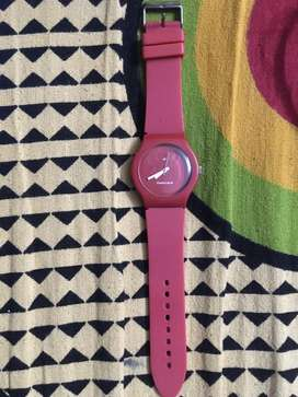 Unisex Fastrack wrist watch red color in good condition
