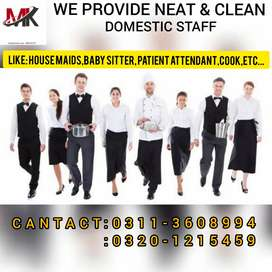We provide All kinds of Domestic staff
