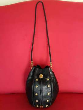 Tas import eks Bally made in Italy mini sling kulit asli