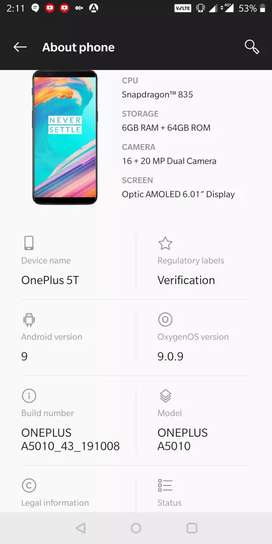 one plus 5t for sale